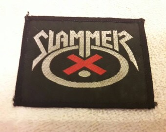 Vintage Rare 1989 Slammer Patch. Vtg 80s 1980s Thrash Metal