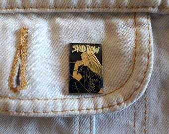 Vintage 90s Skid Row Pin Vtg 1990s Heavy Glam Metal Badge Motley Crue Poison Whitesnake Bon Jovi Guns N Roses