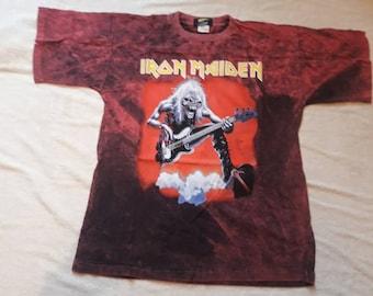 Vintage 1992 Iron Maiden Tour Tee . Vtg 90s 1990s Allover Print Heavy Metal Concert Tshirt T Shirt Judas Priest OVP