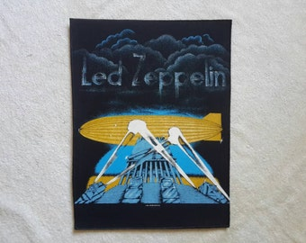 Rare 1986 Dead-Stock Led Zeppelin Back Patch. Backpatch