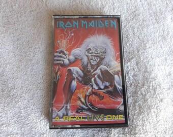Vintage 1993 Iron Maiden Cassette Vtg 90s 1990s Heavy Metal Tape Judas Priest Motorhead Def Leppard Aerosmith Whitesnake Scorpions Bon Jovi