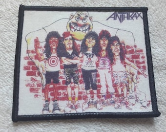 Vintage 1980s Anthrax Patch Vtg 80s 1980s Thrash Metal Testament Sepultura Suicidal Kreator Sodom Slayer Metallica Megadeth Destruction