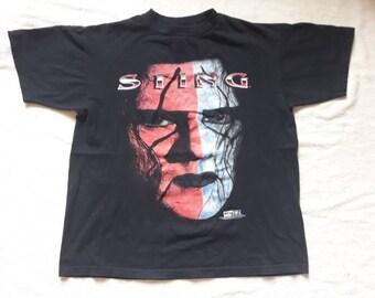 Vintage 1998 Sting Tee Vtg 90s 1990s WWE Wrestling Tshirt T Shirt Hulk Hogan The Undertaker Steve Borden Legends