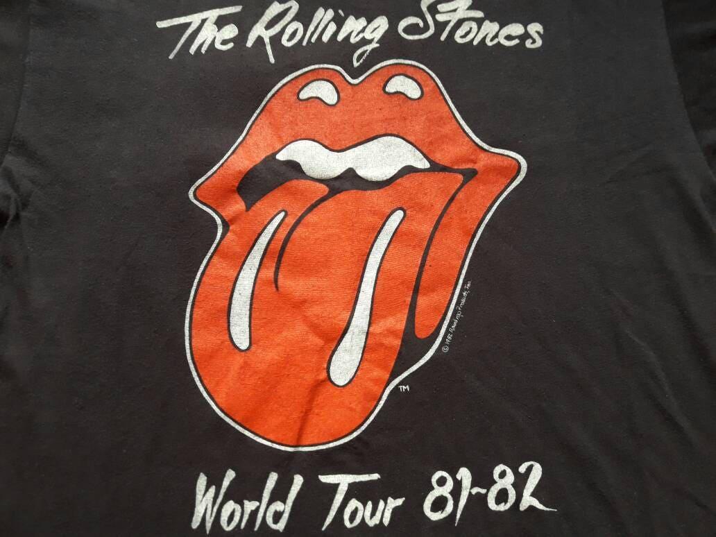 Vintage Rare 1982 The Rolling Stones Tour Tshirt Vtg 1980s 80s Rock