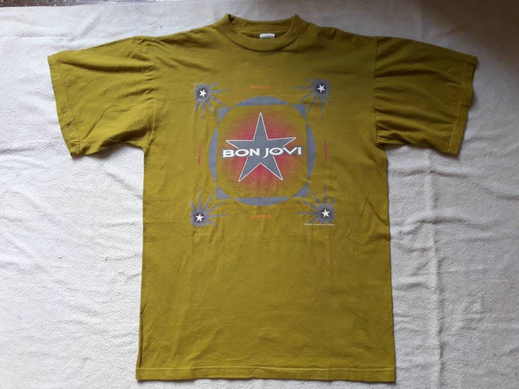Vintage Rare 1996 Bon Jovi Concert Tee Vtg 90s 1990s Heavy Metal Tour T Shirt