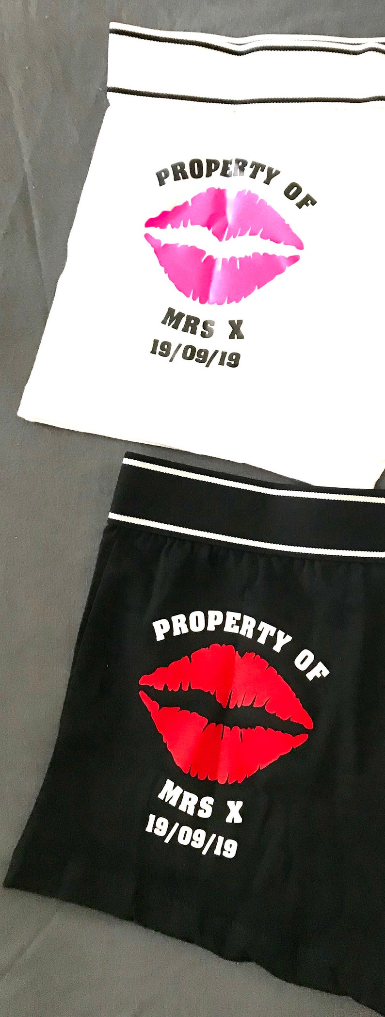 Property of Hot Lips Design Boxer Shorts Great gift for wedding birthday or ANY occasion! anniversary