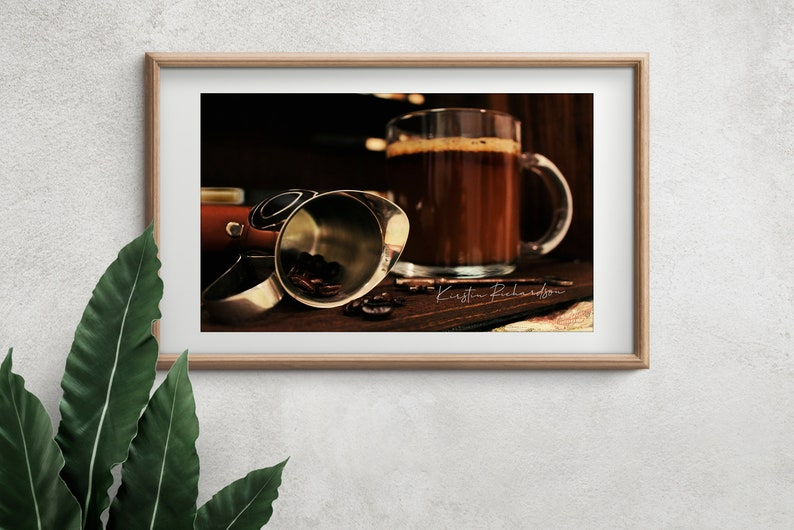 Coffee Bean and Latte Still Life Photography Digital Photo image 0