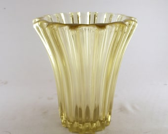 Art Deco vase signed P. D'Avesn Collectible tinted art glass  French c. 1930