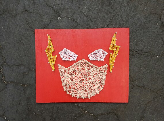 The Flash String Art Superhero Home Decor Man Cave Kids Room Etsy