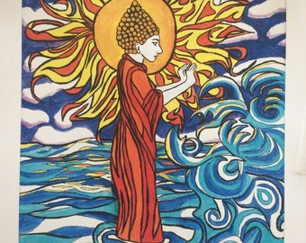Buddha-Repelling the Ocean