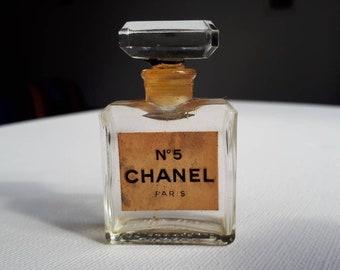 Vintage Original 1950's Chanel No.5 Perfume Bottle