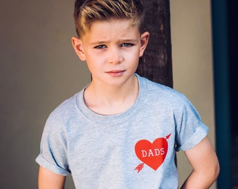 Dads Tattoo Heart kids T-shirt, Unisex, Kids Clothing, Baby Clothing, Two Dads, Gay Dads, Same Sex Parents, LGBTQ Family
