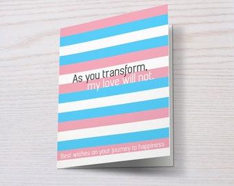 Trans Support Card, Trans Card, LGBT, LGBT Card, Transgender, Transsexual, Trans Support, Trans Acceptance, Trans Equality, FtM, MtF
