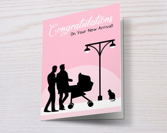 Two Dads, New Baby Card, Congratulations, Same Sex Parents, Gay Parents, New Dads, Gay Dads, 2 Dads, New Arrival, It's a Girl/Boy/Multiples