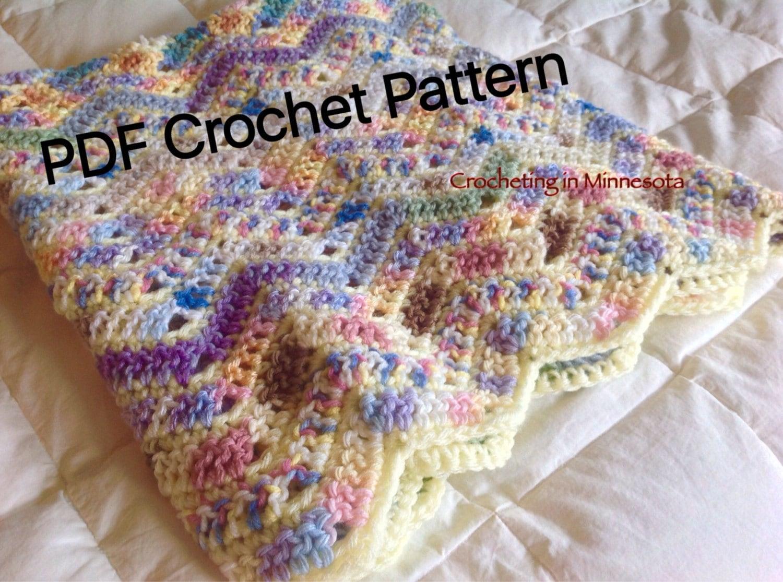 Variegated Ripple Scrapghan Afghan Crochet Pattern, Crochet Blanket ...