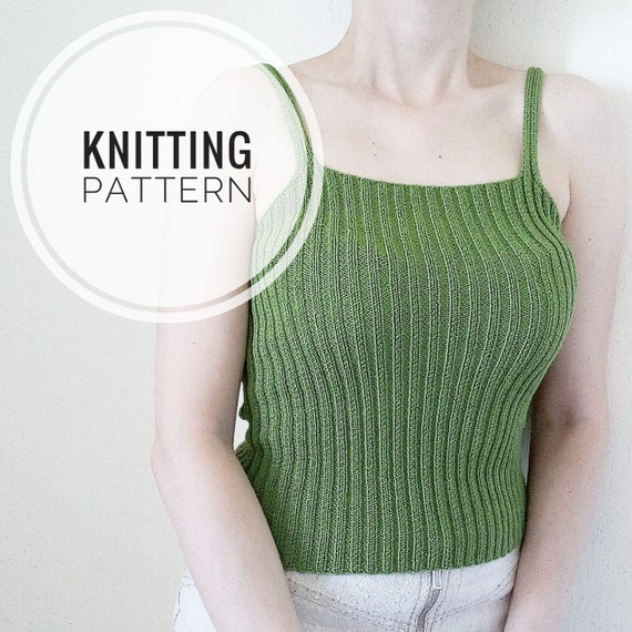 Knitting Pattern Women Tops Pattern Pdf For Knit Tank Top Etsy