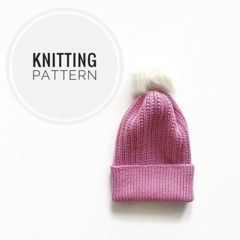 Knitting PATTERN modern women hat Knitting instruction beanie Knitting tutorial Instant Download PDF Easy Knit Pattern knitted cap