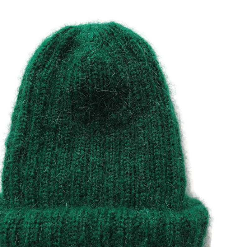 Winter hats women Women hats Knit hat Hand made knitted hats Soft knit hat Ribbed beanie Knitted hats for women Green hat Homemade