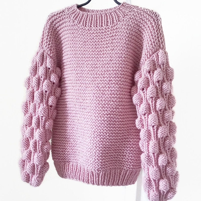 77e8b7e34eac8c Knitted women sweaters Chunky knit sweater Light dusty rose