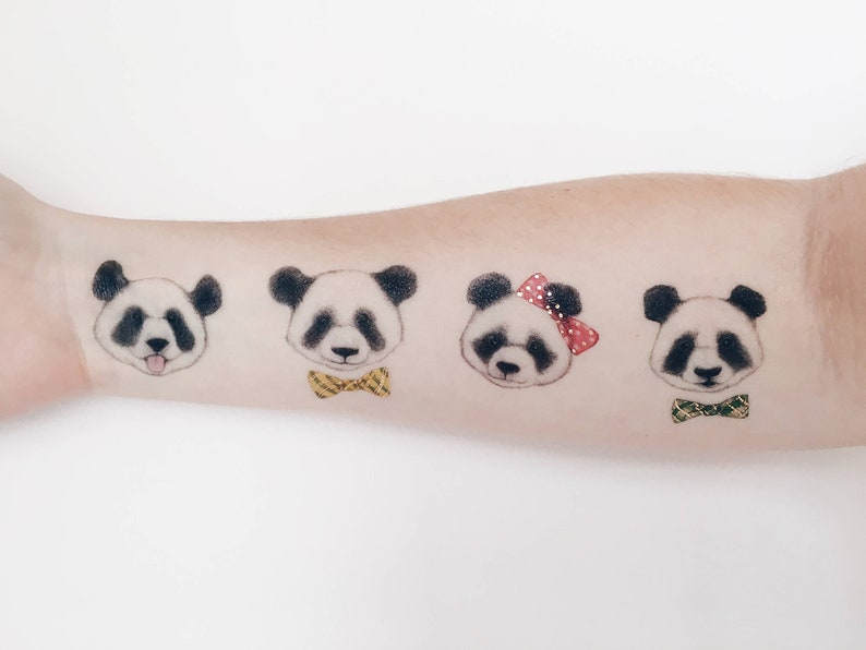 296dc2aea Panda Temporary Tattoo by PAPERSELF | Etsy