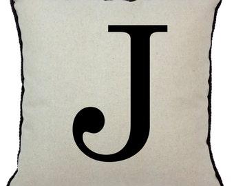 Alphabet Pillow J