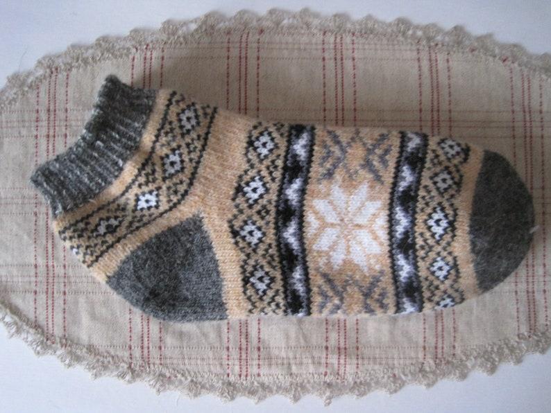 Beautiful Friendly to Skin of Angora wool yarn Womans socks EU-38-40US 8-9 Knit Christmas Stars Warm Gentle and Soft