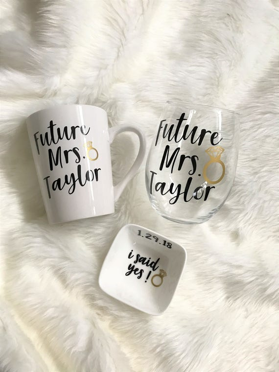 Personalised Engagement Gift Set