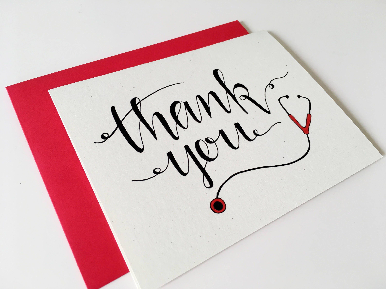 Medical Thank You Card Nurse Thank You Card For Nurse Etsy