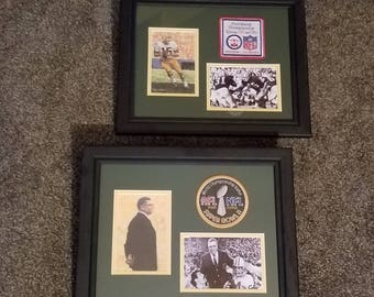 Green Bay Packers / Bart Starr / Vince Lombardi Super Bowl I and II Set 11x14