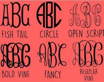 Monogram Decal - ANY STYLE