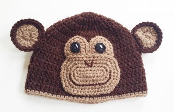 Häkeln Sie Affen Mütze Beanie Gehäkelt Affe Affe Kostüm Hut Babyfotografie Gehäkelte Mütze Kleinkind Affe Hut Erwachsenen Affen Hut