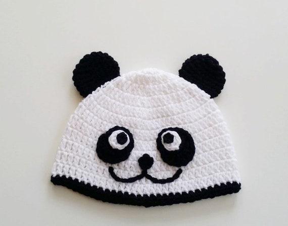 Häkeln Sie Panda Mütze Kleinkind Pandamütze Pandamütze Etsy