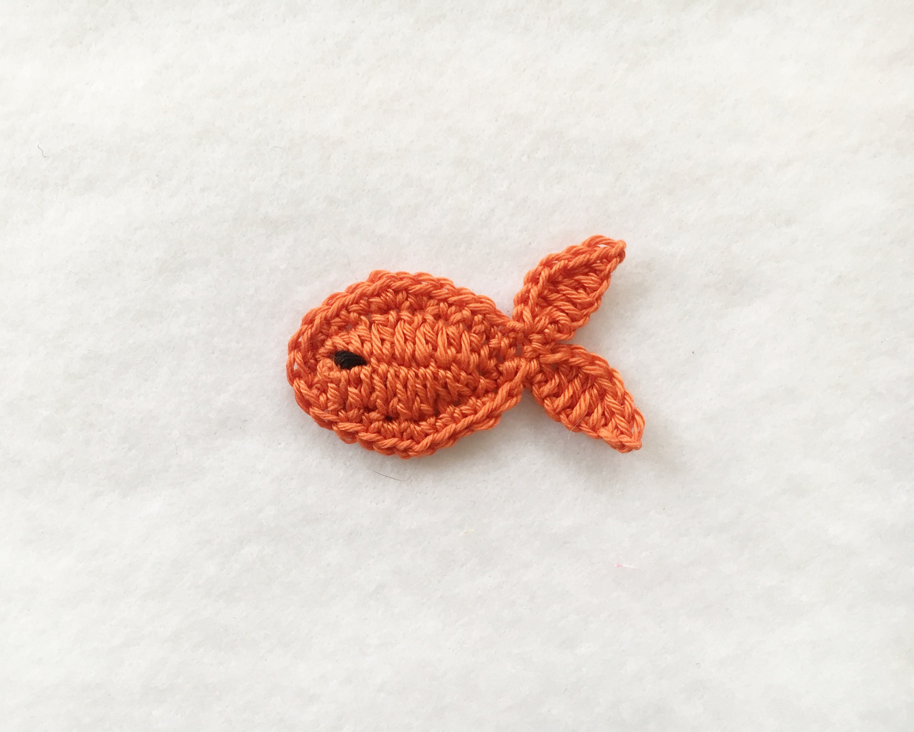 Crochet fish appliquesSew on appliques for babyCrochet sea | Etsy