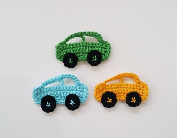 Häkeln Sie Kleinwagen Häkeln Applikationen Für Jungen Etsy