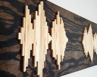 Wood Soundwave Wall Art - Wood Wall Art - Soundwave Art - Unique Gift - Anniversary Gift