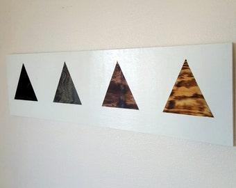 Minimal Modern Wood Wall Art - Triangle Wood Wall Art - Geometric Wood Wall Art - Unique Gift - Hospitality Art - Hotel Art