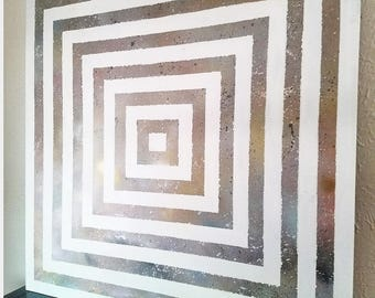 Abstract Geometric Wall Art - Celestial Art - Space Art - Galaxy -Hospitality Art - Hotel Decor - Corporate Art