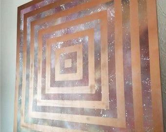 Abstract Geometric Wall Art - Original Abstract Art - Space Art - Celestial Art - Galaxy- Hospitality Art - Hotel Decor - Corporate Art