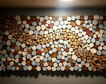 Wood Slice Wall Art - Reclaimed Wood Wall Art - Abstract Wall Art - Natural Wall Art - Unique Gift - Hospitality Art - Hotel Art