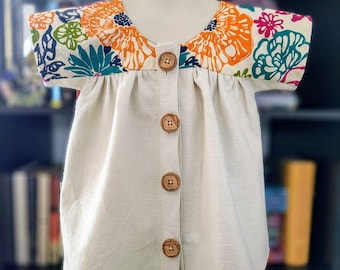 Girls Boho Blouse Made to Order Girls Blouse