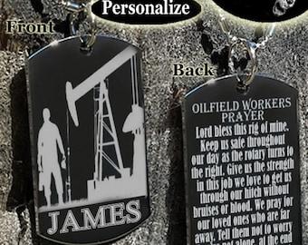 oilfield workers prayer oilfield oilfield wife oilfield worker oilfield worker gift oilfield daddy oilfield family oilfield necklace