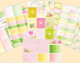 Pink Lemonade - Weekly kit, 6/7 pages, Planner stickers (for Erin Condren, Plum Paper, Kikki K, Paperchase, Filofax)