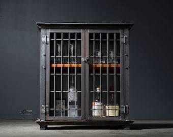 Bar Cart, Liquor Cabinet, Industrial
