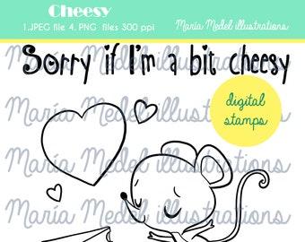 DIGI STAMP SET. Valentine's funny  digital stamps for scrapbooking, card making. Instant download. Personal use