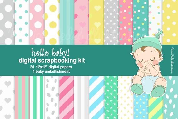 Fille bébé Scrapbooking accessoires bébé Garçon 24 Bébé Fabrication Carte Embellissement