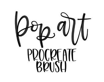 Pop Art Procreate Lettering Brush