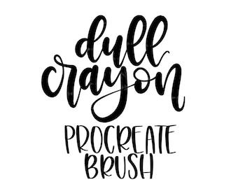 Dull Crayon Procreate Lettering Brush