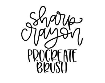 Sharp Crayon Procreate Lettering Brush