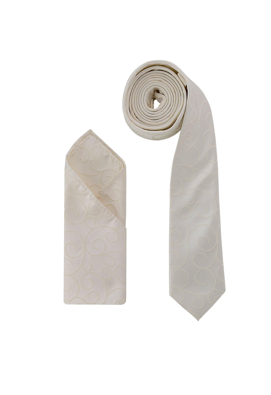 3cf91257fedc Luxury Premium Ivory Light Gold Swirl Woven Neck Tie & | Etsy