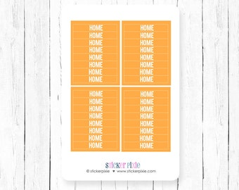 Header Planner Stickers Orange m/d/n mdn for use with Erin Condren Vertical